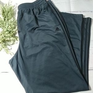 Men's ADIDAS grey athletic track pants